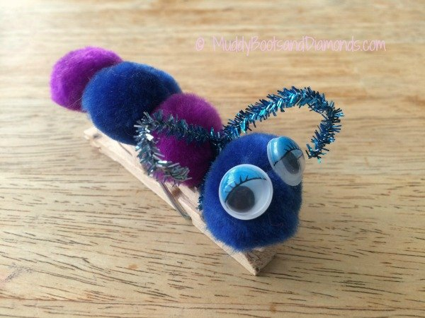 Clothes Pin Caterpillar Craft